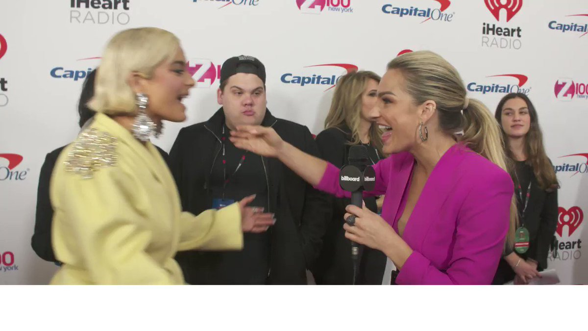 .@BebeRexha discusses Grammy nominations, the Victorias Secret Fashion Show & more at #Z100JingleBall.