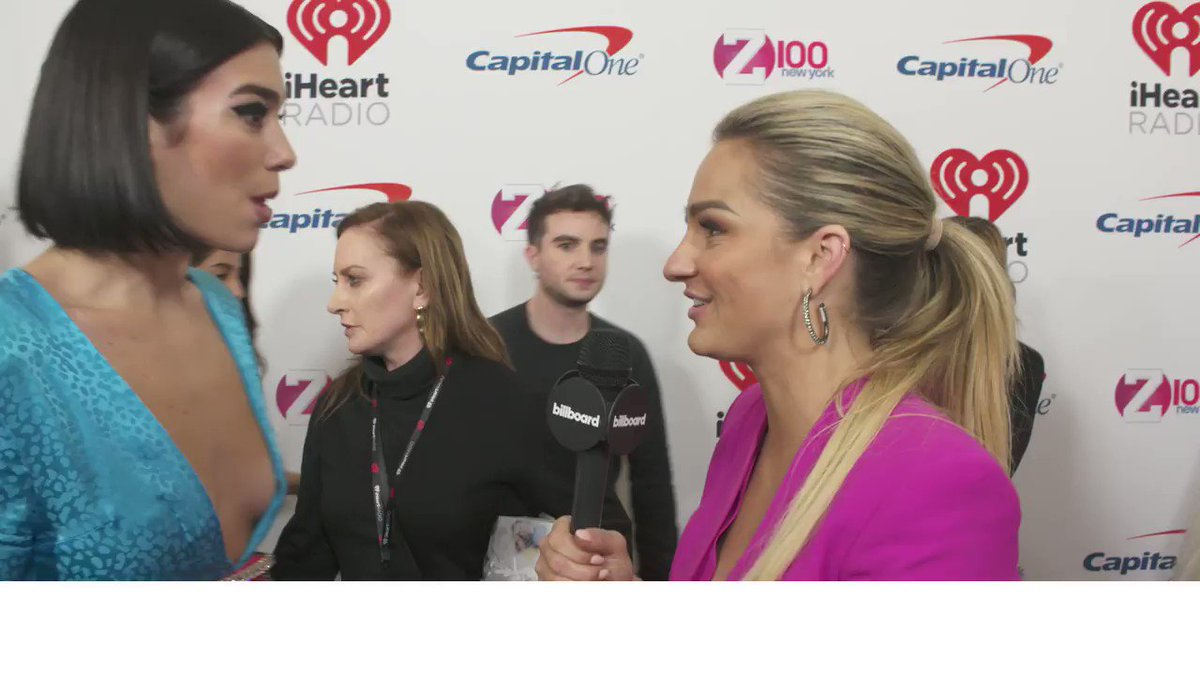.@DUALIPA chats about her Grammy nominations & @ygofficialblink collab at #Z100JingleBall.