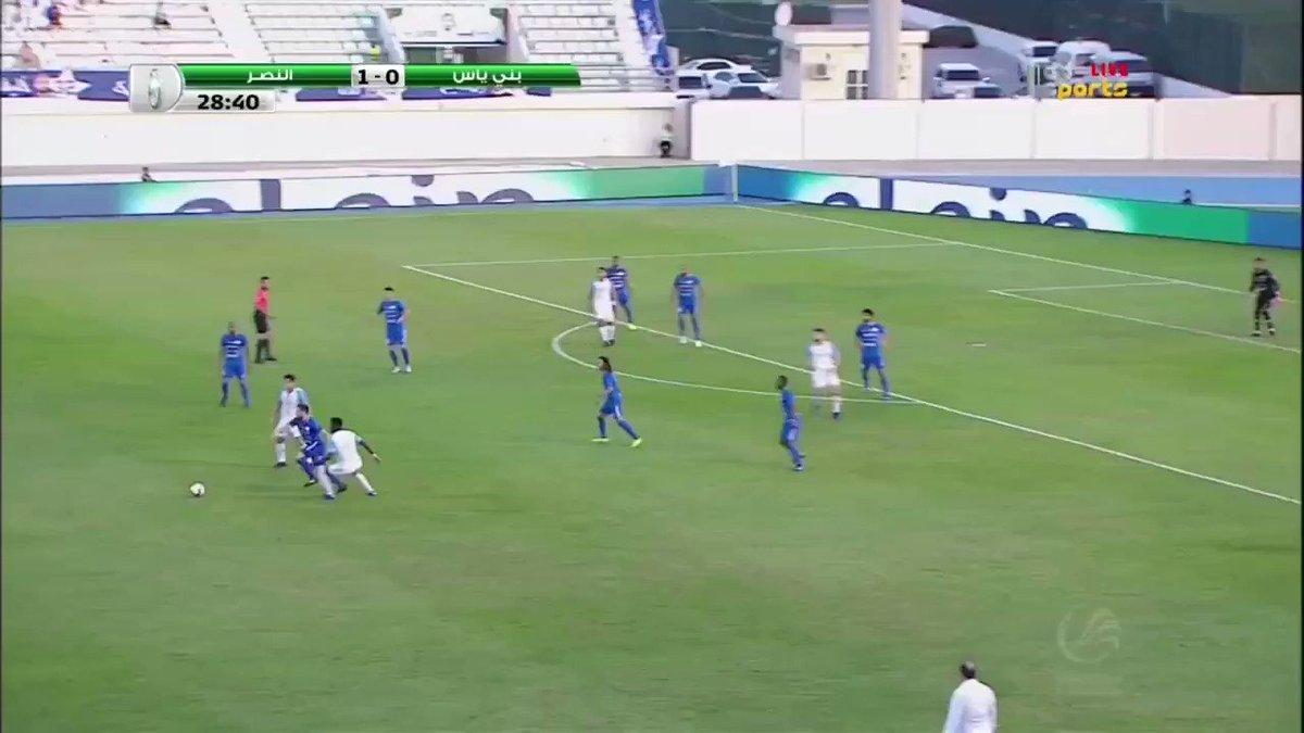 لاعب #النصر #كاباي يخرج بالبطاقة الحمراء المباشرة في الدقيقة 29 إثر تدخل عنيف على قدم #حبوش_صالح #النصر_بني_ياس #كأس_رئيس_الدولة