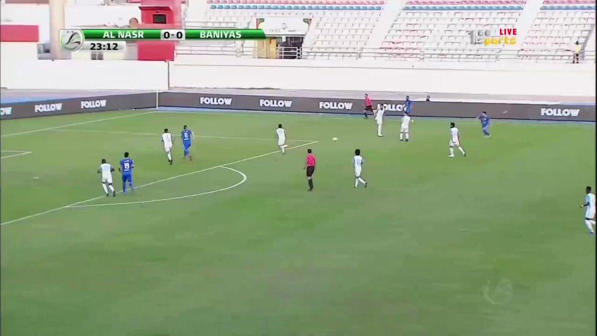 نهاية الشوط الأول من مباراة #النصر_بني_ياس بتقدم النصر بهدف وحيد سجله #ماركينيوس في الدقيقة 24 #كأس_رئيس_الدولة
