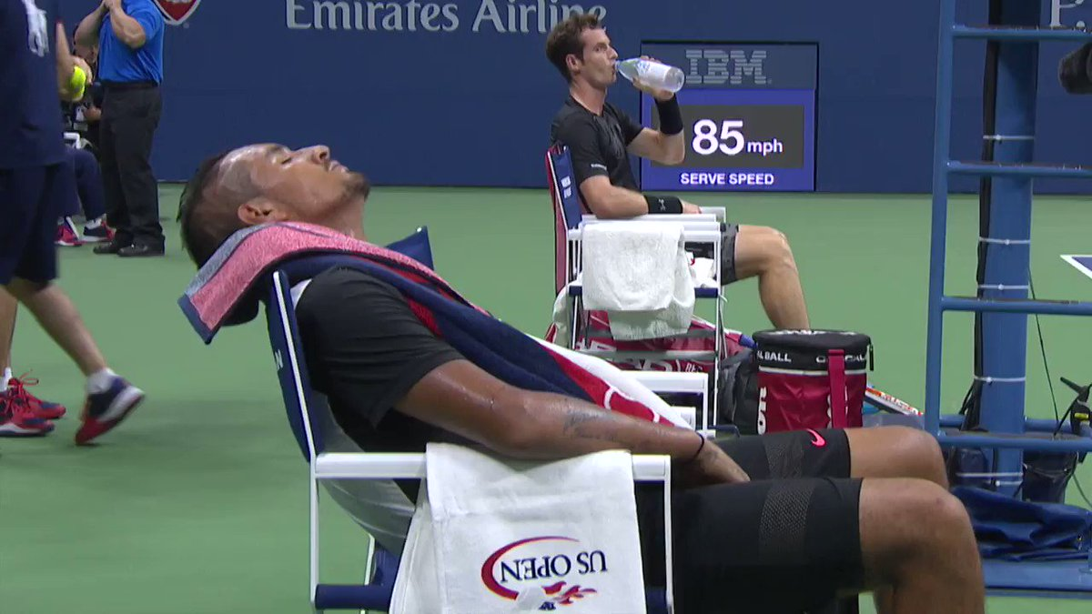 Sunday: The day of rest... 😂🛏️ #USOpen