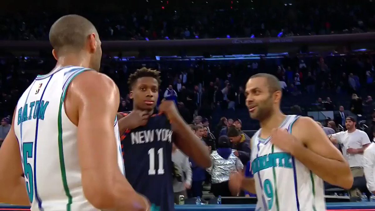 Image for the Tweet beginning: Tony Parker, Nic Batum, &