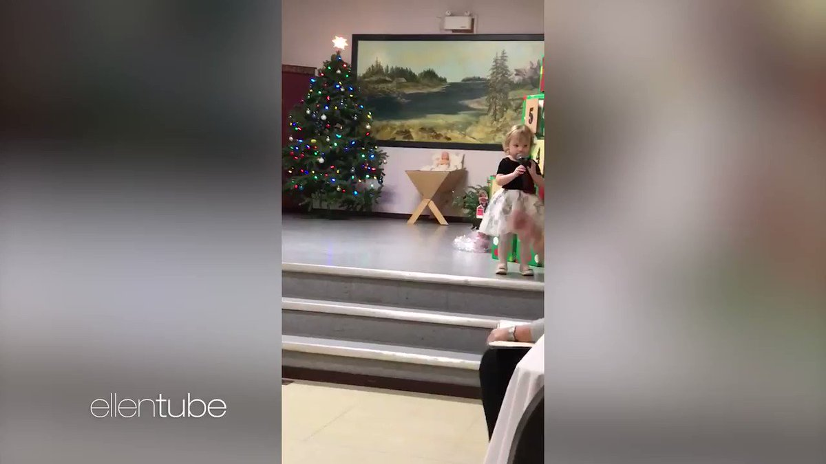 This little girl officially knows more of the lyrics to 'Jingle Bells' than I do.