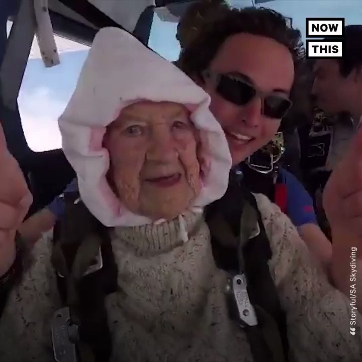 Watch this 102-year-old grandma become the the world's oldest skydiver —for a good cause