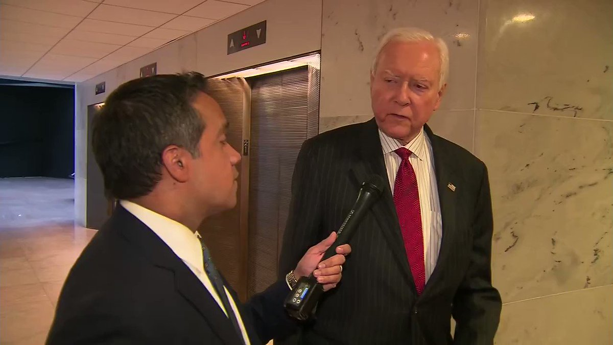 Sen. Orrin Hatch: 'The Democrats will do anything to hurt this president - anything.' https://t.co/S1tEb6Qmzk https://t.co/ovXe1L52vh