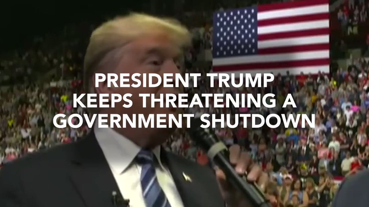 Amid @realDonaldTrump temper tantrum @SenSchumer gets Trump to admit that he will solely own any gov't shutdown. #TrumpShutdown #TrumpTantrum
