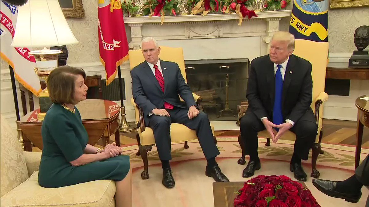 WATCH: Trump, Pelosi, Schumer have extraordinary exchange over border wall hill.cm/7X5a3An