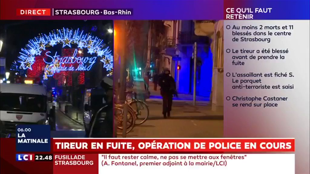 Image for the Tweet beginning: Fusillade à #Strasbourg : le