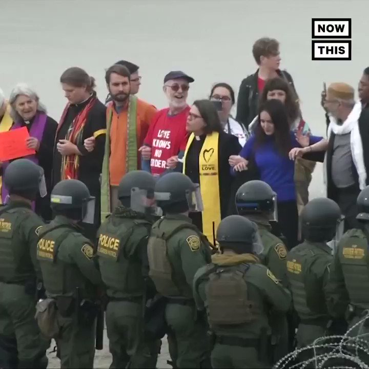 Religious leaders peacefully marching in support of asylum seekers were met with guns at the border