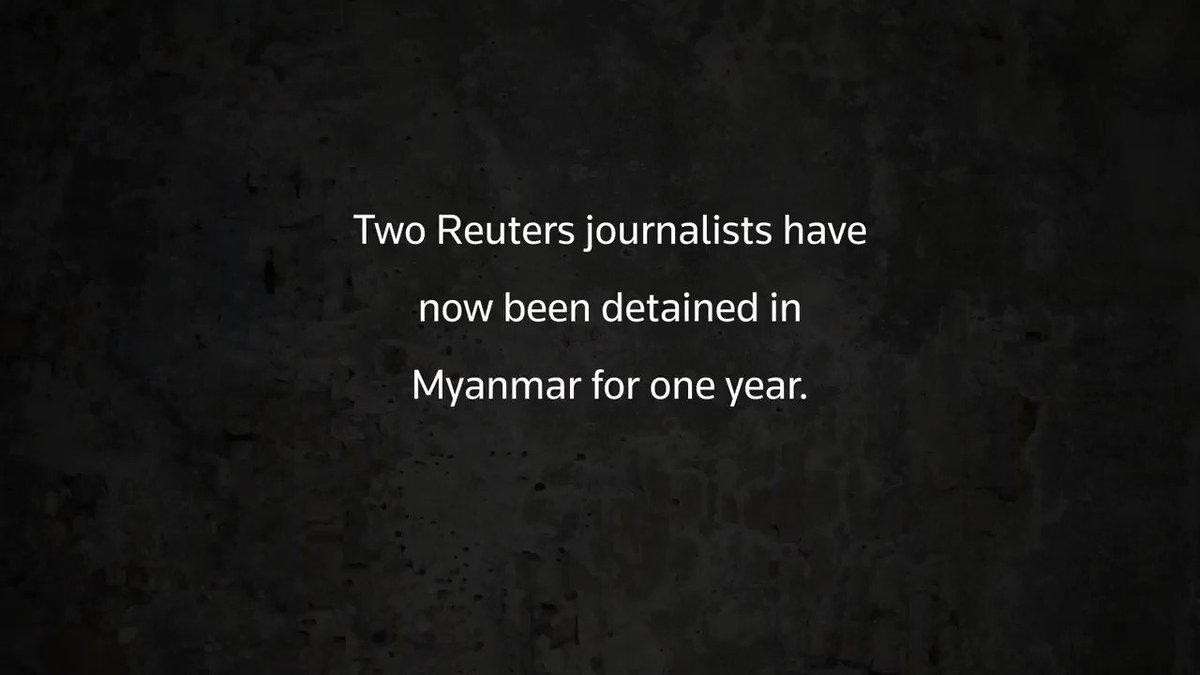 Imprisoned in Myanmar: @Reuters journalists Wa Lone and Kyaw Soe Oo have been detained for one year. See updates on their case: https://www.reuters.com/subjects/myanmar-reporters …