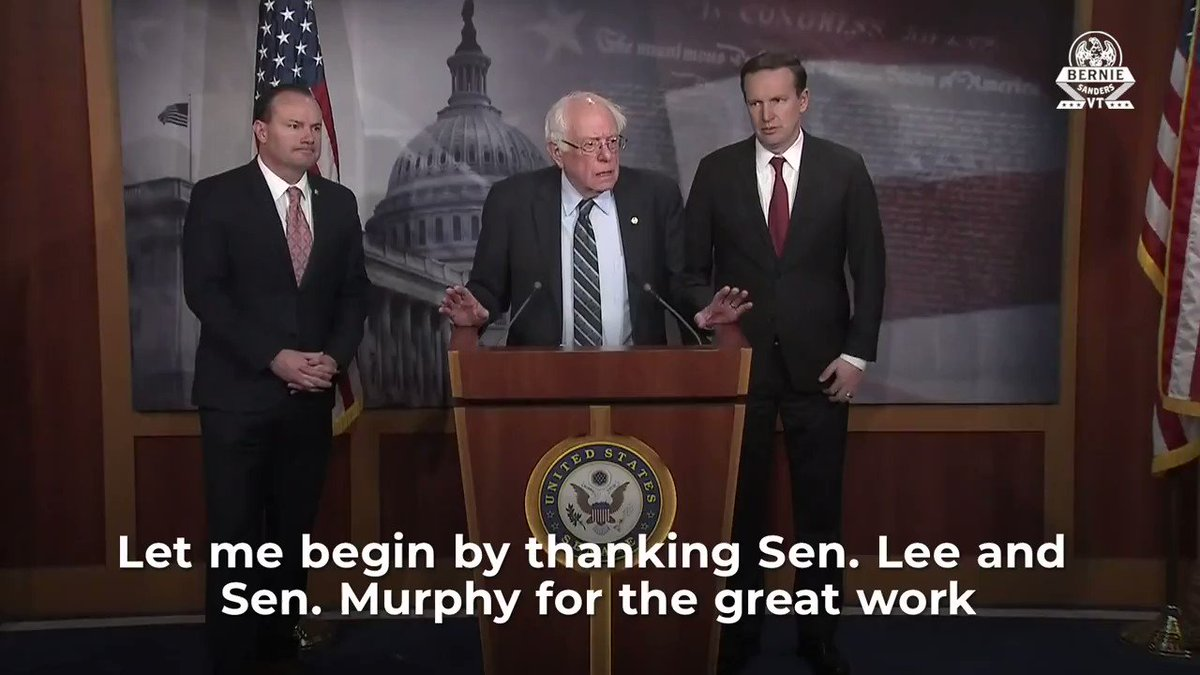 Today we have brought Republicans and Democrats together in a very historic moment to take back the Congress constitutional responsibility on matters of war.