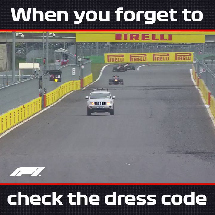 Oh wow... I am SO underdressed 😳 This ever been you at the Christmas Party? Just roll with it! 🤙 #F1 #FridayFeeling