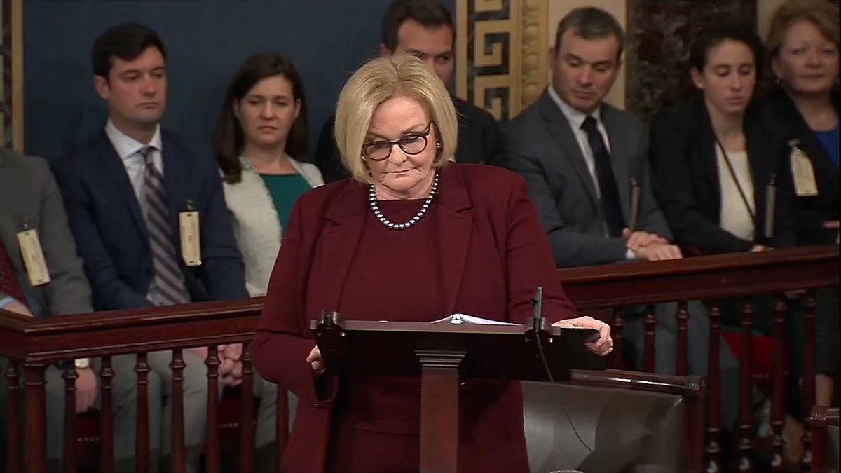 Sen. Claire McCaskill: 'We have too many embarrassing uncles in the United States Senate.' https://t.co/fv21dafaDB https://t.co/n1nHH3pjqt