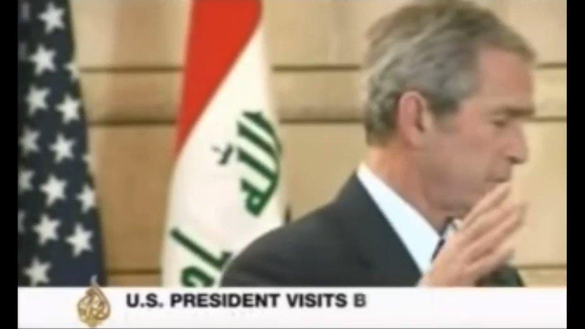 #OnThisDay 10 years ago, Iraqi journalist Muntadhar al-Zaidi threw his shoes at George W Bush. https://t.co/GXtwXjq2eL
