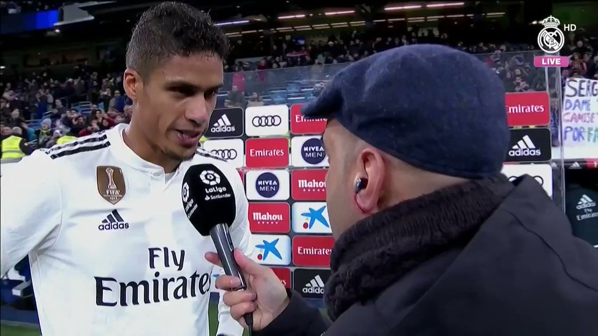 🎙💬 Listen to @raphaelvaranes post-match thoughts following our victory over @RayoVallecano! #RMLiga