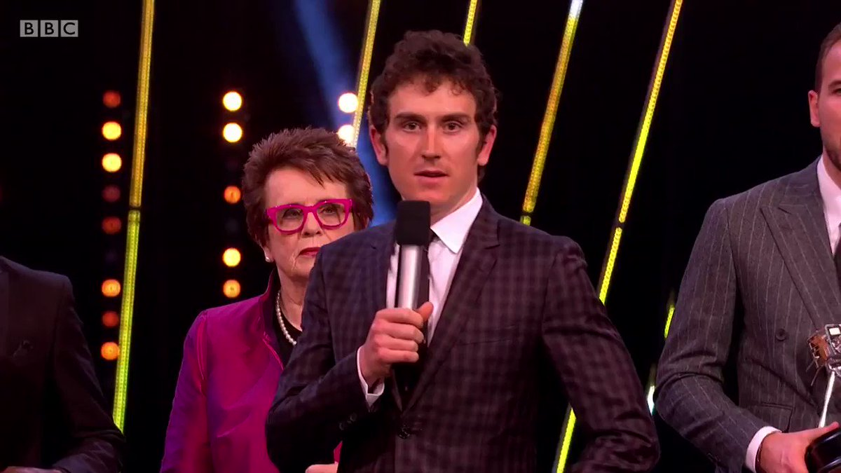 You actually realise that what we do does inspire people... you take just as much pride from that as winning something like this Geraint Thomas... BBC Sports Personality of the Year 2018! #SPOTY