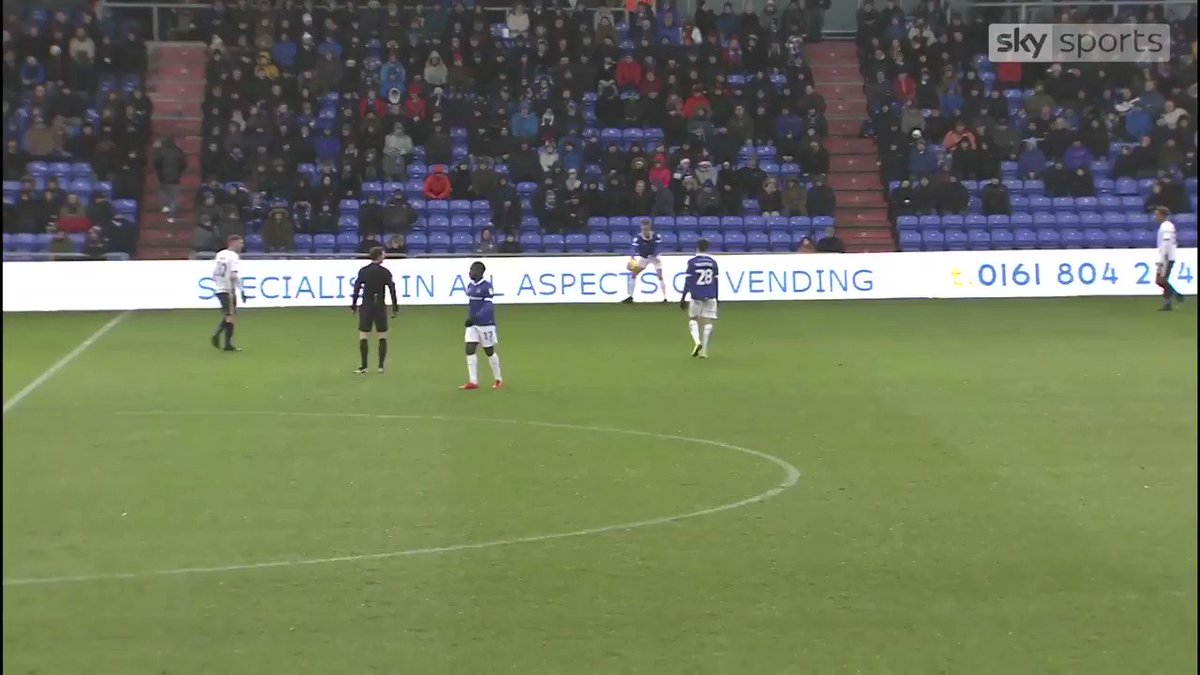 👏 WATCH: @OfficialOAFC hat-trick hero Chris O'Grady bags the perfect treble...  🎩 Hat-trick came in a local derby with Bury as well...