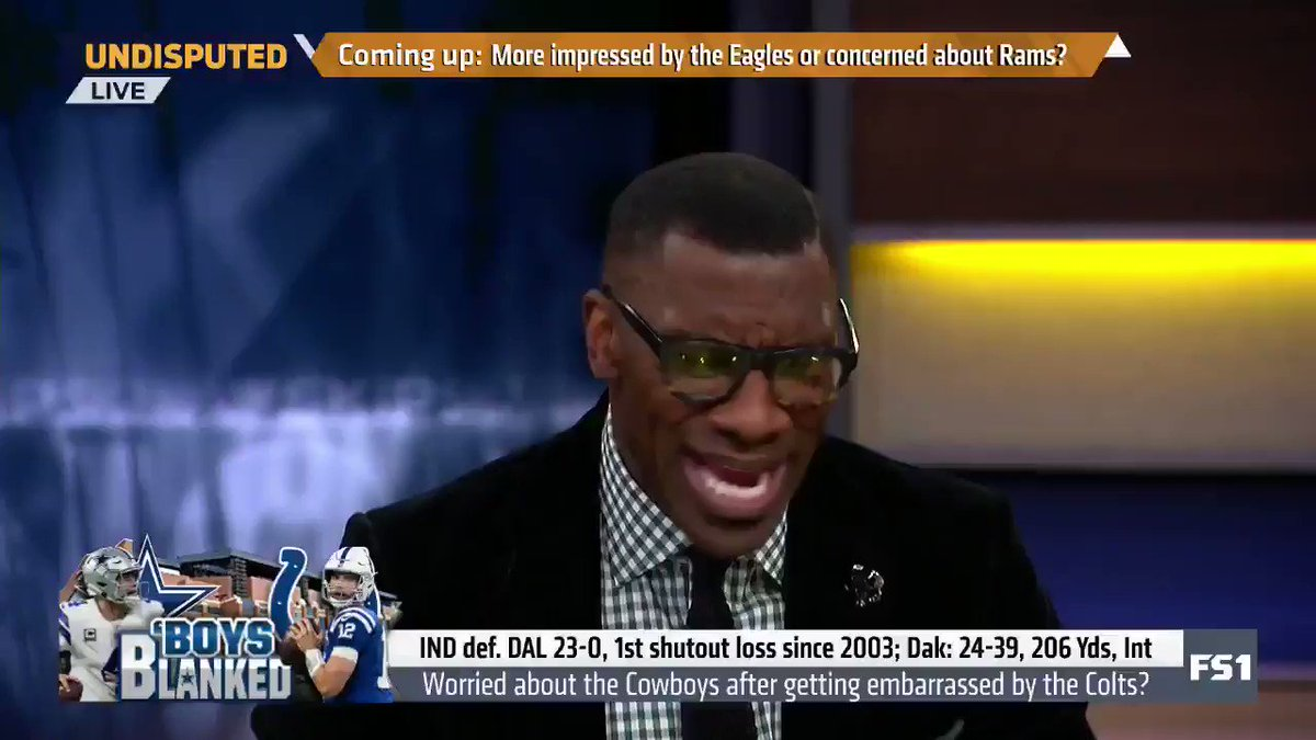 'You said you'd rather have Dak Prescott than Andrew Luck. Well, you had him, and you got 0 points.' — @ShannonSharpe