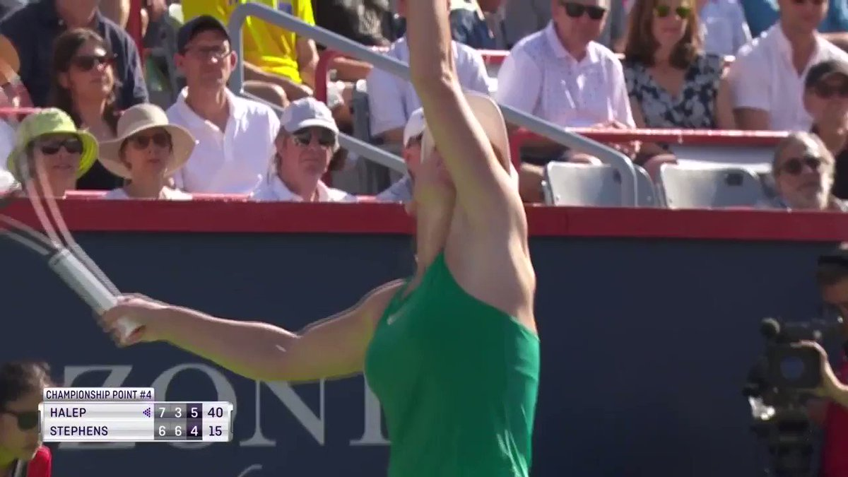 Match of the year? @Simona_Halep wins a thriller against Stephens to claim the @CoupeRogers!
