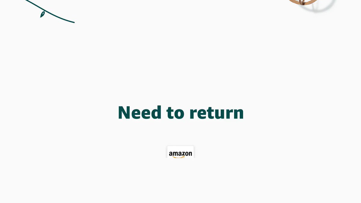 It's the thought that counts, but our Online Returns Center makes gift exchanges and returns simple (just in case!) https://amzn.to/2PTKt6W