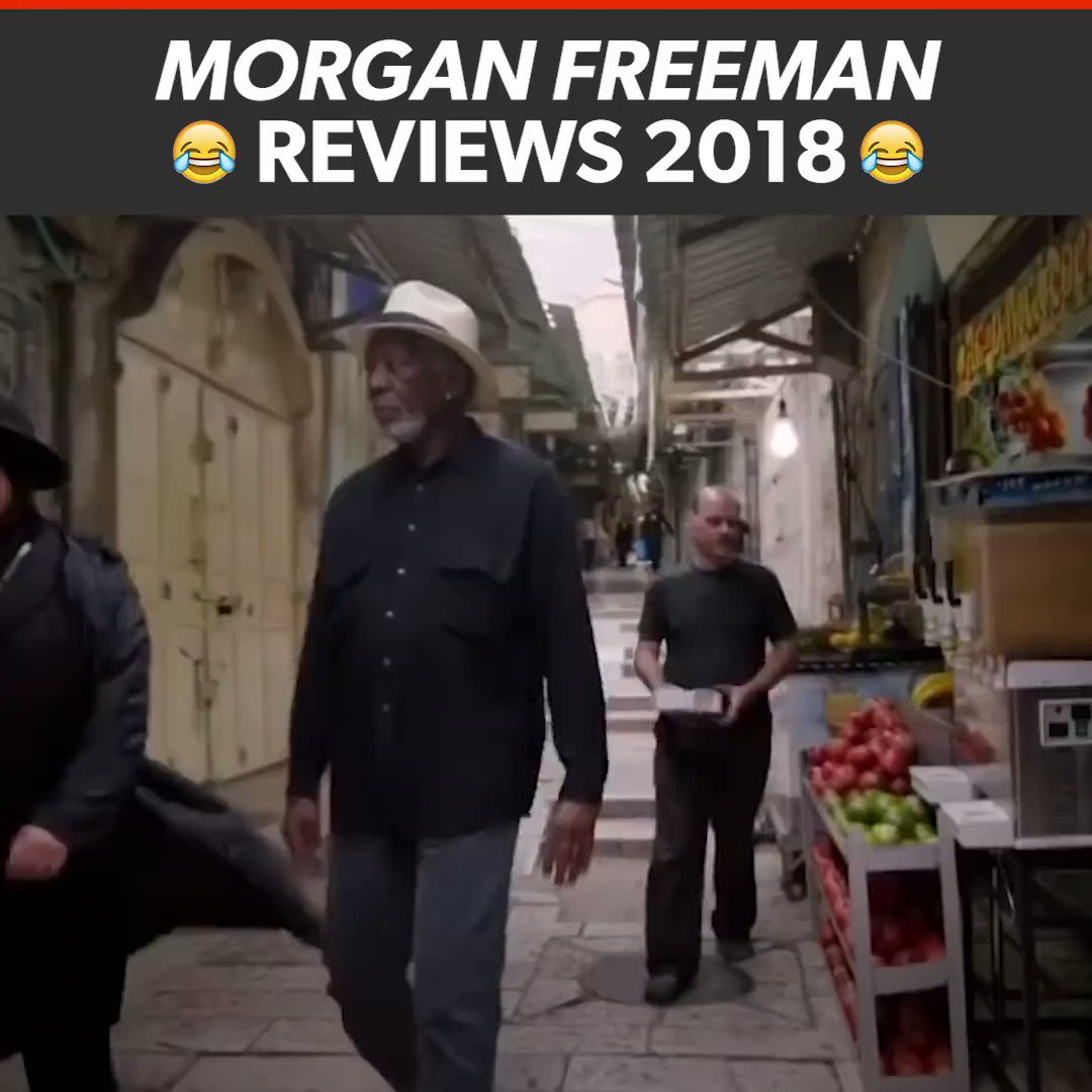 Morgan freeman reviewing 2018 is the best thing I have seen today 😂😂😂