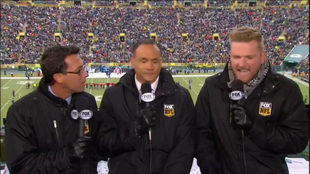 #TBT to that time I got to call an actual NFL game in Lambeau... Had a blast in that booth with the folks from Fox.