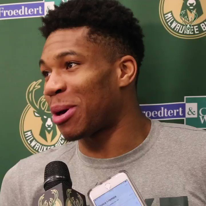 """I smell what @TheRock is cookin! Big fan.""  Giannis on the challenge with @PlanetPat5 to The Rock:"