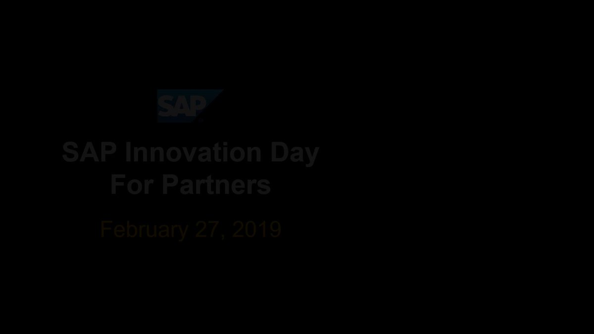 Image for the Tweet beginning: Save the Date! SAP Innovation