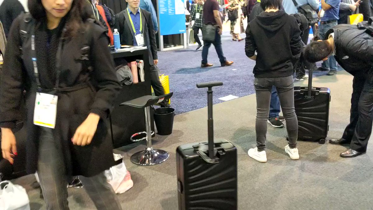 This suitcase aims to be your shadow.