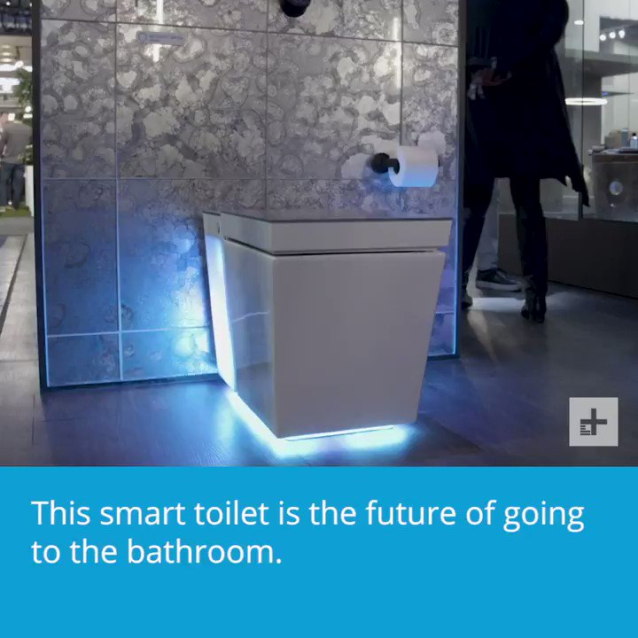 This smart toilet is the future of going to the bathroom. #CES2019