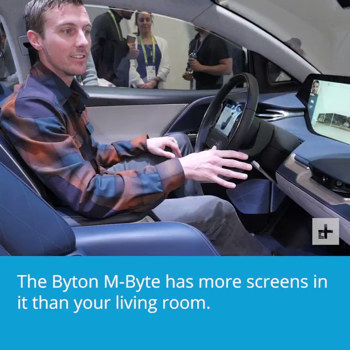 The @BytonCars M-Byte is a futuristic car that has 48-inch screen across the dash! #CES2019