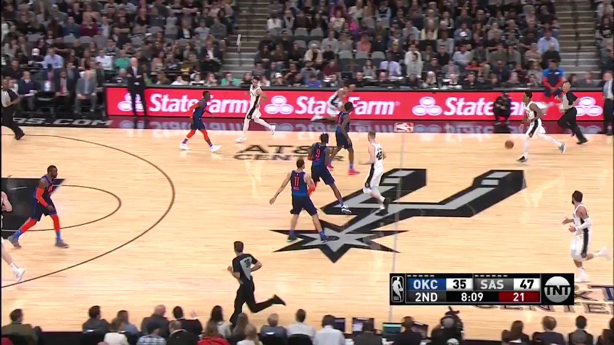 ������  @spurs are 9/9 from behind the arc on @NBAonTNT! #GoSpursGo https://t.co/ef913GT1mw