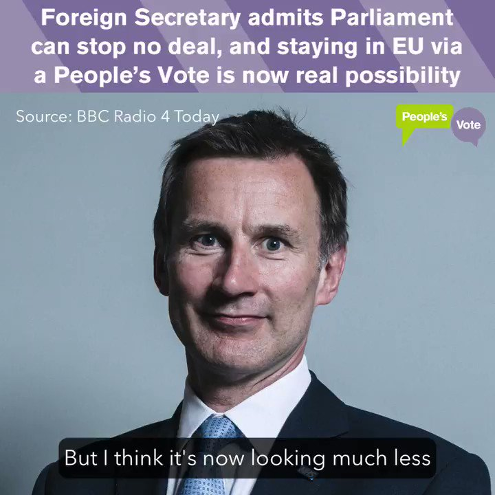 People's Vote UK's photo on Jeremy Hunt