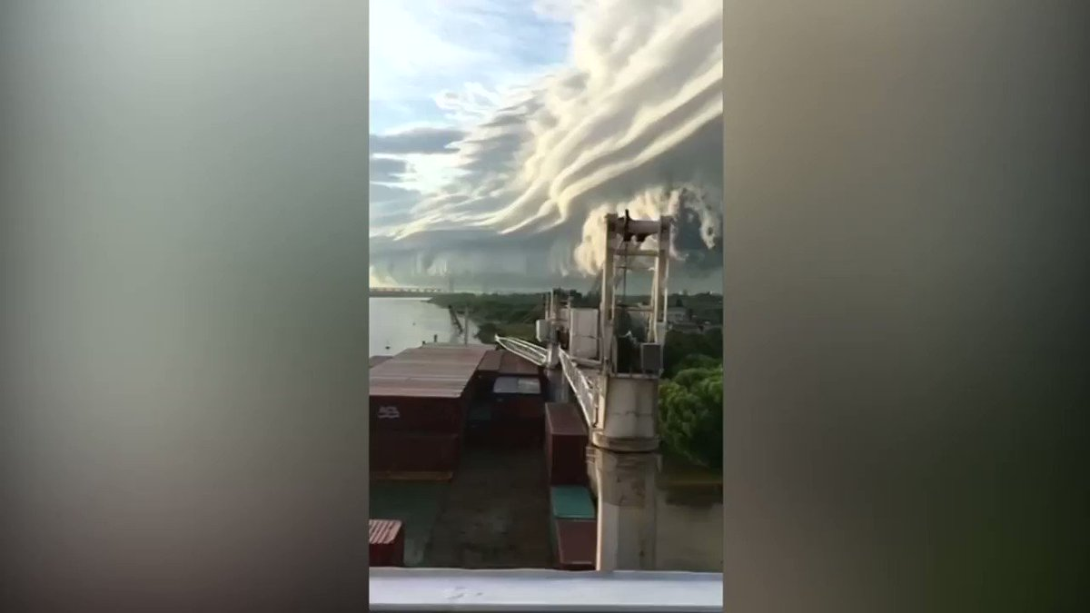 An impressive cloud front filled the sky around Buenos Aires, Argentina