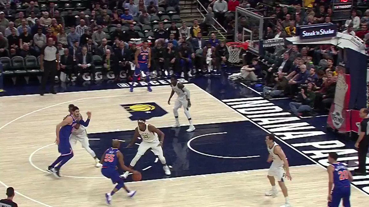 �� @VicOladipo's TOP 5 BLOCKS against bigs!   ��: #Pacers x #NewYorkForever  ⏰: 7:30pm/et ��: @ESPNNBA https://t.co/pFtKEtPARS