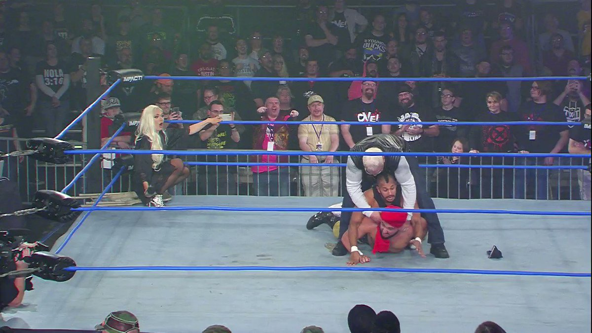 .@Lady_Scarlett13 teasing Scott Steiner with a lap dance is something we never thought we'd see on IMPACT. #IMPACT  ▶️ - https://www.twitch.tv/impactwrestling