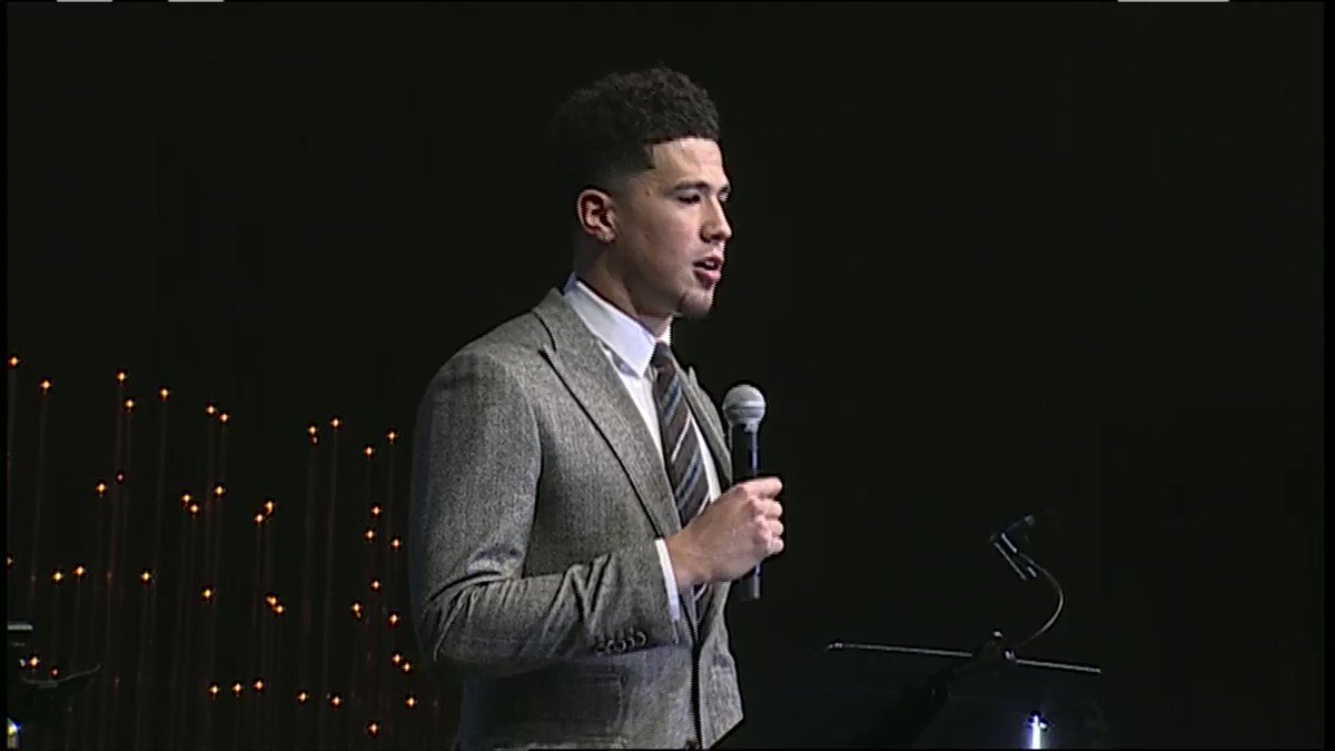 Here's Devin Booker donating $2.5M of his money to Phoenix charities over the next 5 years. He was nominated for a Walter Kennedy Citizen of the year award for this.  https://t.co/emxsDKhDO7 https://t.co/apigW4D3CP