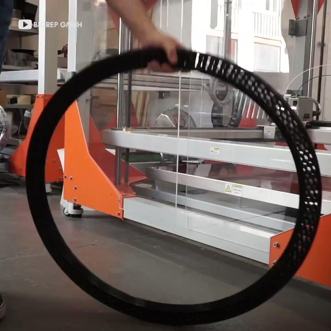 Image for the Tweet beginning: #3Dprinted airless tire never goes