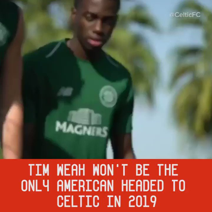 Tim Weah ✅  Manny Perez 🔜  Andrew Gutman 🔜   Is an American youth movement about to begin at @CelticFC? https://t.co/tn5GAD8QXa