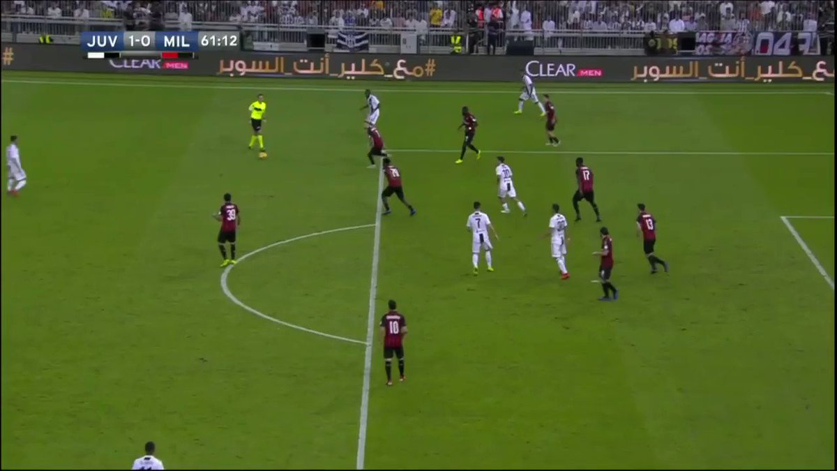 Ronaldo with the header! Juve up 1-0 in the Italian Supercoppa.