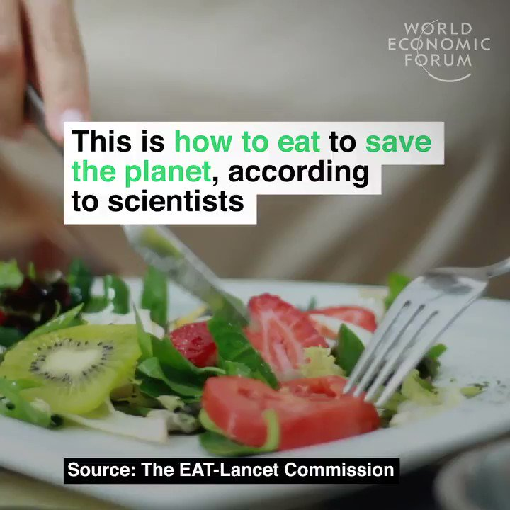 A recipe for the future. Learn more about the benefits of an environmentally-aware diet: https://wef.ch/2CPveEG #environment #nature