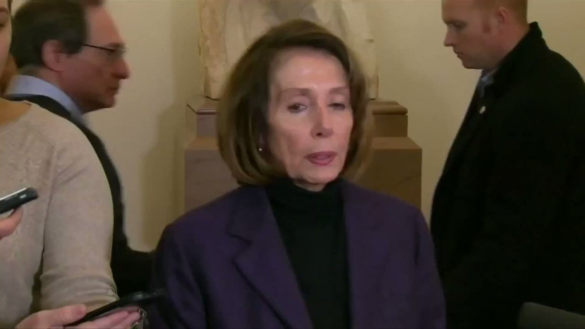 House Speaker Nancy Pelosi said it was 'very irresponsible' for President Trump to publicly disclose commercial travel plans by representatives to Afghanistan https://reut.rs/2QWI9IL