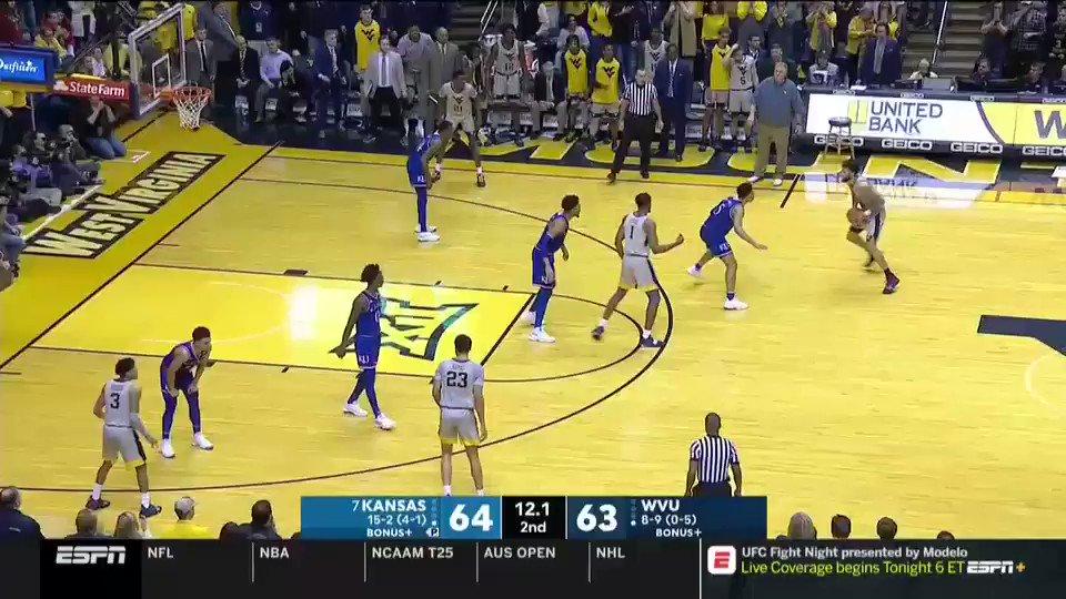 8-9 West Virginia Stuns No. 7 Kansas For First Big 12 Win