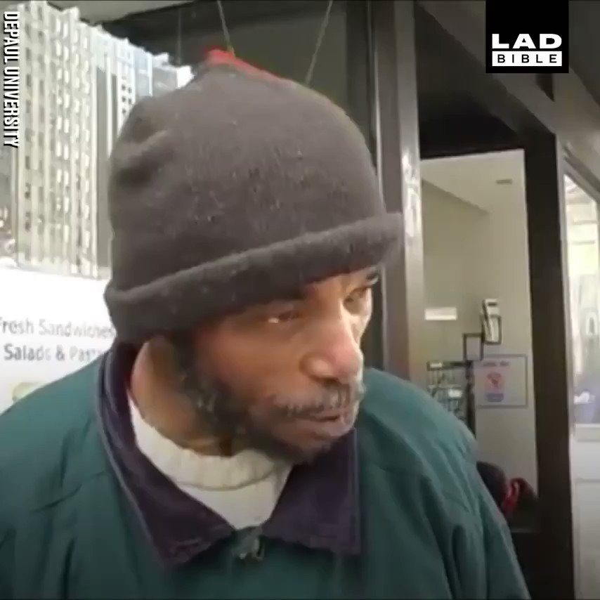 Im not a bum, Im a human being. This mans emotional speech about the difficulties of being homeless is something we all need to remember 😥