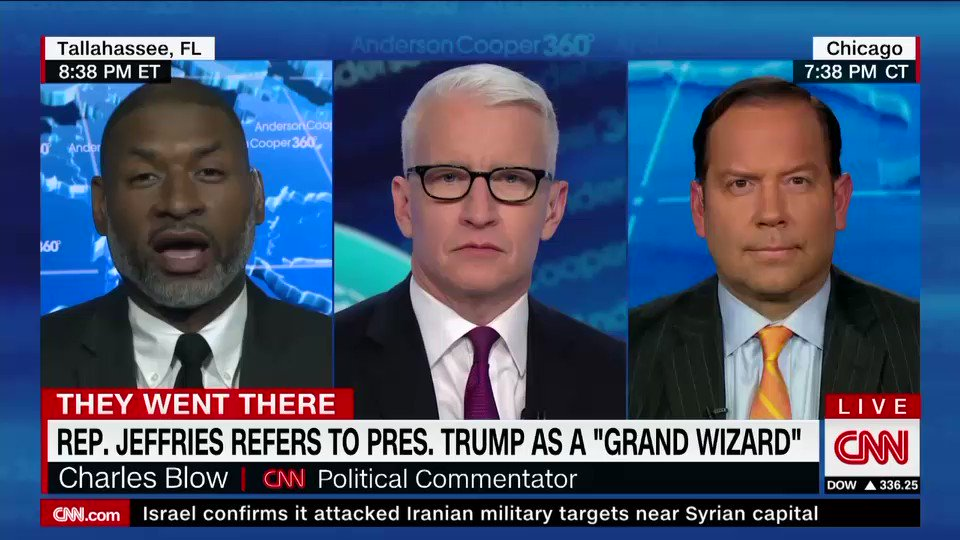 """NYT's @CharlesMBlow says there's no longer a question on whether Pres. Trump is a racist: """"I'm vexed by the whole idea we keep coming back to this question about whether or not the man is a racist when it is clear his pattern of behavior over his entire life suggests that he is"""""""