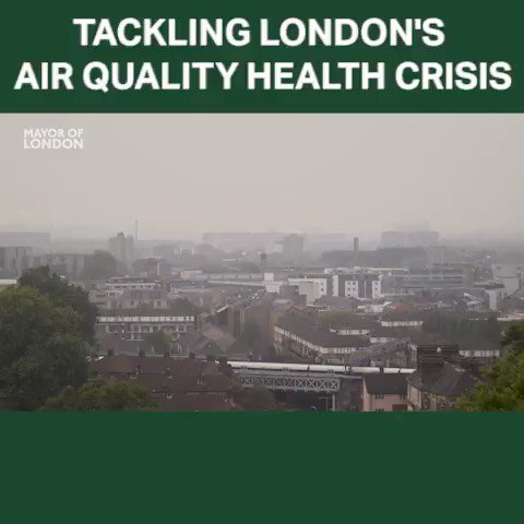 Image for the Tweet beginning: London's dirty air is linked