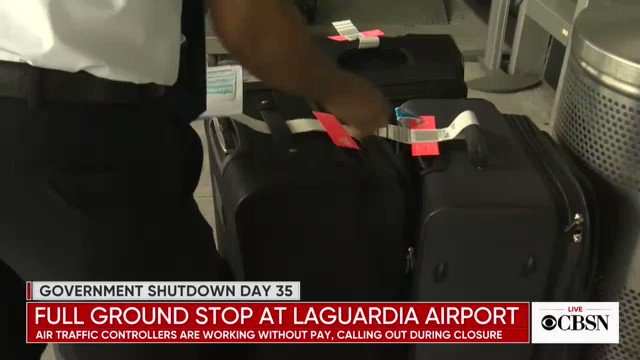 JUST IN: Flights at multiple airports, including New York's LaGuardia Airport, are delayed because of a shortage of air traffic controllers due to the government shutdown http://cbsn.ws/2DwWisz