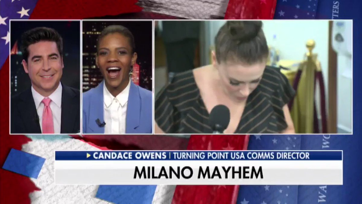 """@Alyssa_Milano calls the MAGA hat the new """"white hood.""""@RealCandaceO shares her thoughts with @JesseBWatters."""