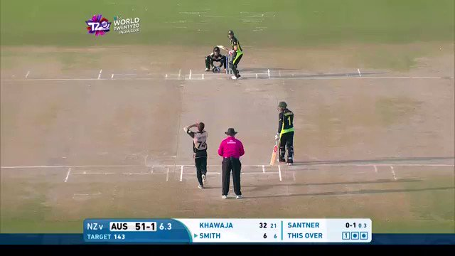 This ball to dismiss @stevesmith49 at the @T20WorldCup in 2016 👌  Happy birthday to New Zealand all-rounder @MitchellSantner!