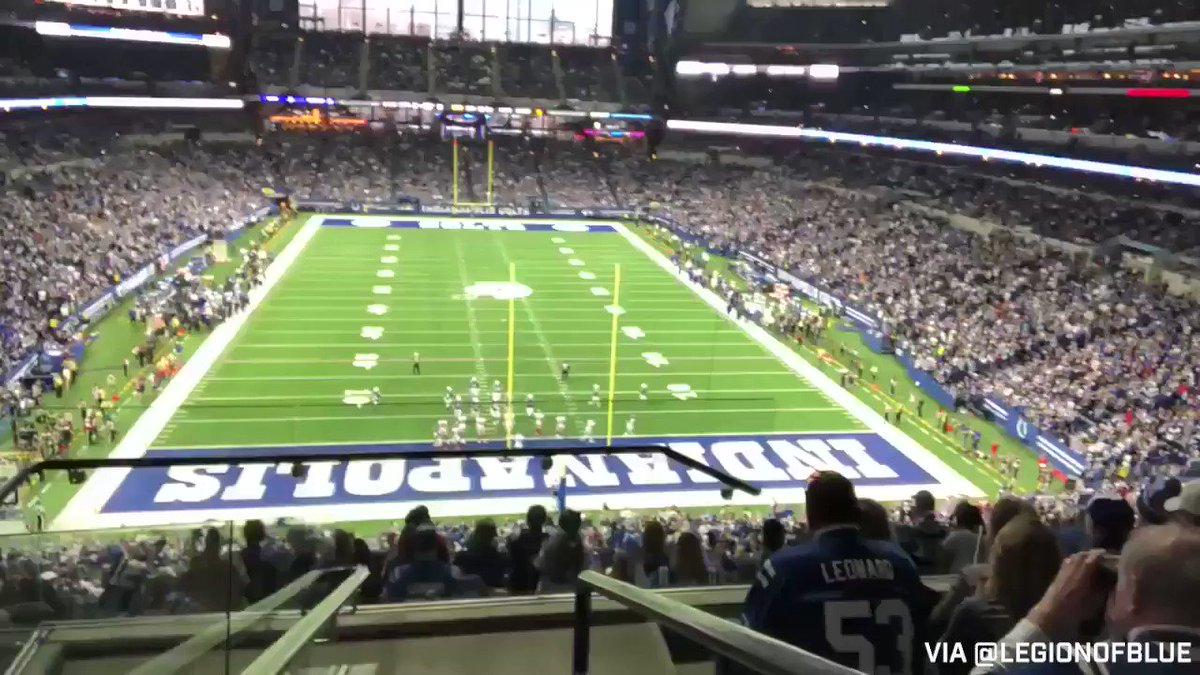 We want to see some of your favorite moments from the 2018 season!   Reply to this Tweet with videos you took from @LucasOilStadium... like this! ⬇️ (via @LegionofBlue)